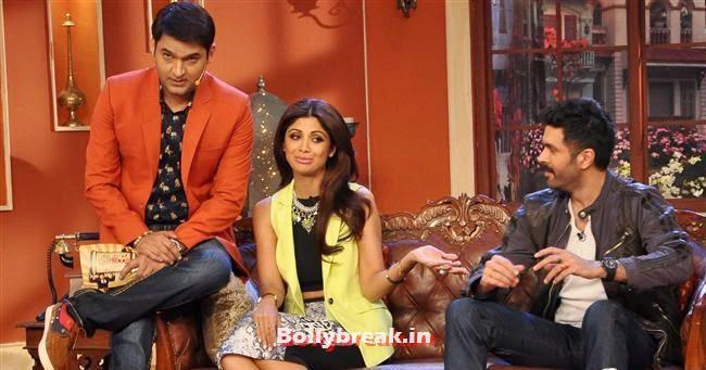 Kapil Sharma, Shilpa Shetty and Harman Baweja, Shilpa Shetty Promotes Dishkiyaaoon Promotion on Comedy Night with Kapil