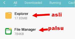 aplikasi palsu di redmi 3 dan redmi pro