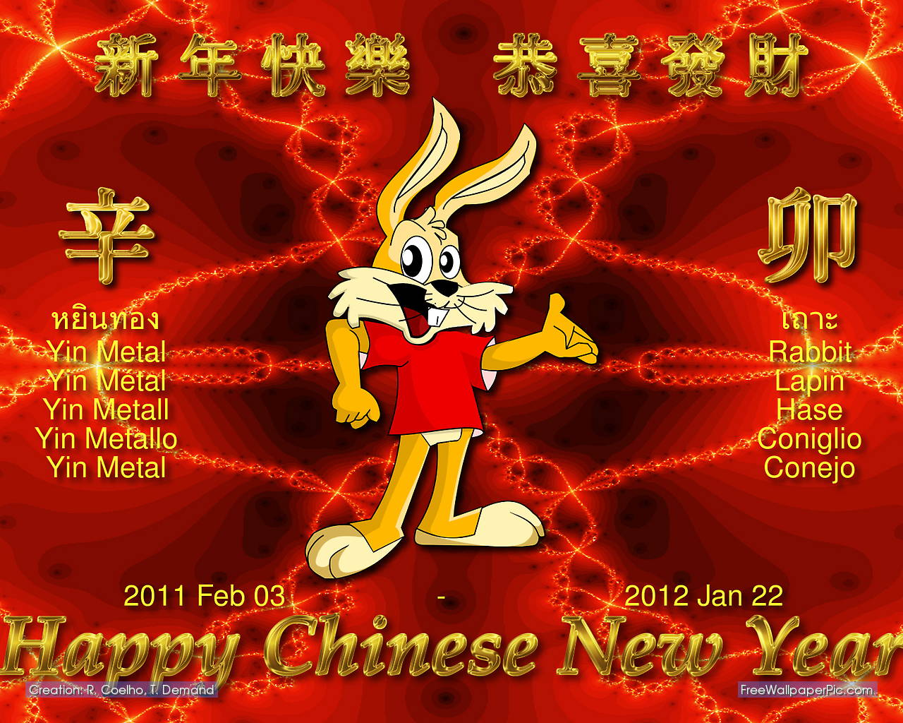 Chinese new year rabbit wallpaper |Funny Animal