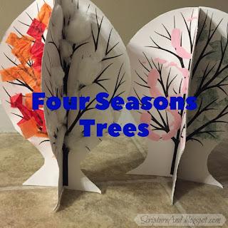 Four Seasons Trees craft | scriptureand.blogspot.com