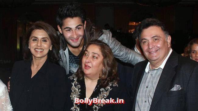 Neetu Singh, Armaan Jain, Ritu Nanda and Rishi Kapoor
