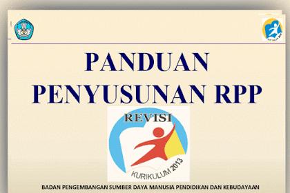 Rambu-Rambu Penyusunan RPP Kurikulum 2013 Hasil Revisi 2016