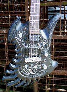 guitarras de madera talladas a mano