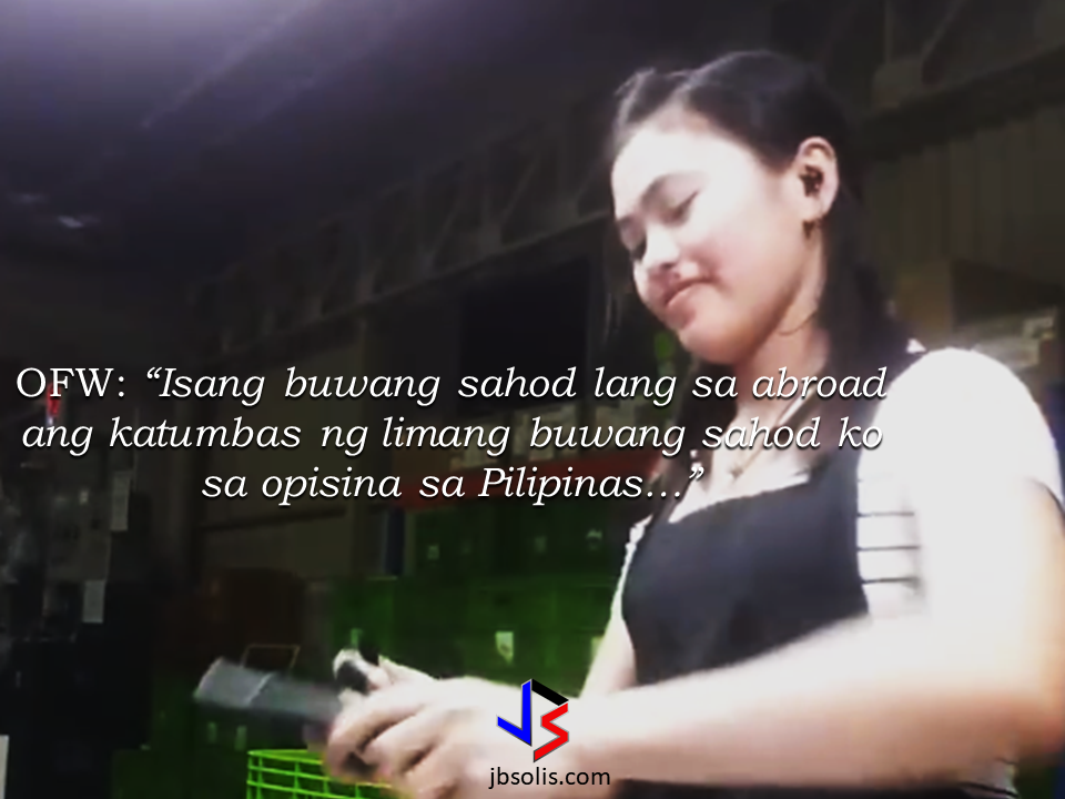 """In this world, people are quick to judge like they know what you should be doing more than you know yourself. They can even question your choices and throw prejudice based on tiny things they know about you.  In the case of a Filipina OFW, she proved them wrong and she has  shown them that she did the right choice and enjoying its fruit. Fiang Fe Fhaye Padz, an OFW in South Korea working as a factory worker. She narrated how she finished her studies and got her dream job in an office. Dressed professionally with a comfortable working environment. You look presentable in an air-conditioned room, having your own table, working in  front of the computer and you can take your breaktime anytime. But in all of these things you seem to be enjoying, you are still not earning enough. In this world, people are quick to judge like they know what you should be doing more than you know yourself. They can even question your choices and throw prejudice based on tiny things they know about you.  In the case of a Filipina OFW, she proved them wrong and she has  shown them that she did the right choice and enjoying its fruit. Fiang Fe Fhaye Padz, an OFW in South Korea working as a factory worker. She narrated how she finished her studies and got her dream job in an office. Dressed professionally with a comfortable working environment. You look presentable in an air-conditioned room, having your own table, working in  front of the computer and you can take your breaktime anytime. But in all of these things you seem to be enjoying, you are still not earning enough.   Sponsored Links When she decided to work overseas as a factory worker, many eyebrows raised, especially from those who know here, asking why would you work in a factory after graduating from college? For people that only look on your position, she has an explanation.  Since she bacome an OFW, she got to enjoy life. Yes she is just a """"lowly"""" factory worker but now, she can buy the things she wants instead of depriving herse"""