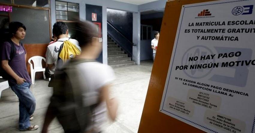MATRÍCULA ESCOLAR 2017: Defensoría del Usuario supervisa proceso en colegios de Lima