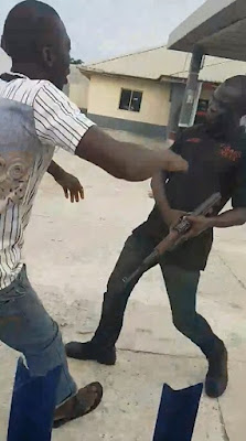 Nigerian Police (SARS) Shoots a Man in Delta State (Photos and Video)
