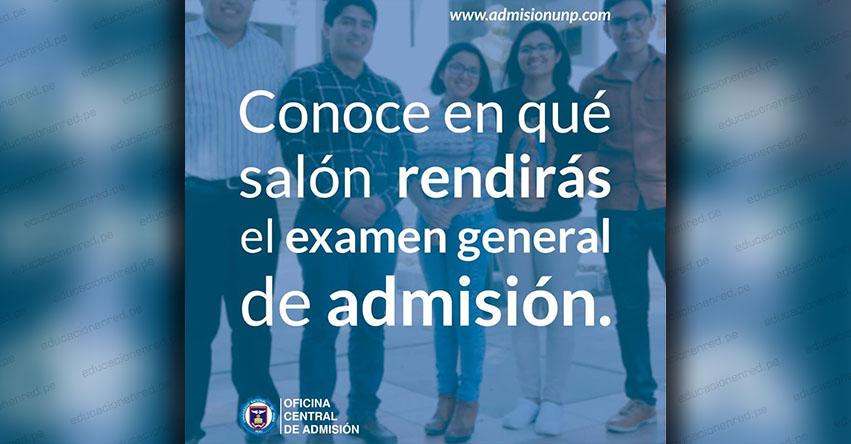 Admisión UNP Piura 2019-2 (Examen General Domingo 25 Agosto) Distribución de Aulas para el Examen de Admisión - Universidad Nacional de Piura - www.unp.edu.pe