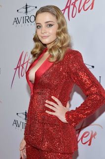 Josephine Langford at The Premiere of Aviron Pictures 'After' in Los Angeles