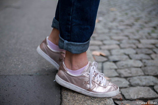 photo sneakers métalisées