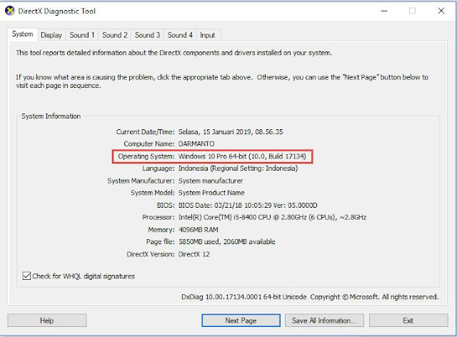 Cara mengecek, apakah windows 32 bit atau 64 bit yang terinstall