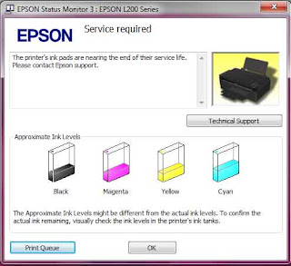 EPSON L100 T13 L200 WASTE INK PAD RESET SOFTWARE