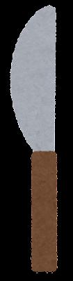 ナイフのイラスト(木の柄)