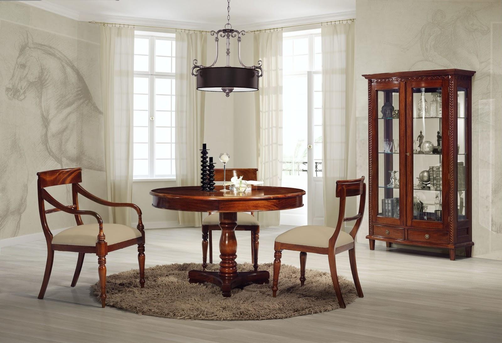 Ideas para decorar el comedor mesas redondas de comedor for Comedor para espacios pequea os
