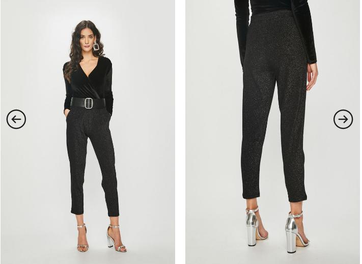 Answear - Pantaloni dama eleganti cu talie inalta negri de ocazii
