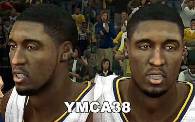 NBA 2K13 Roy Hibbert Cyberface Patch