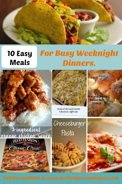 10 Easy Meals for Busy Weeknights