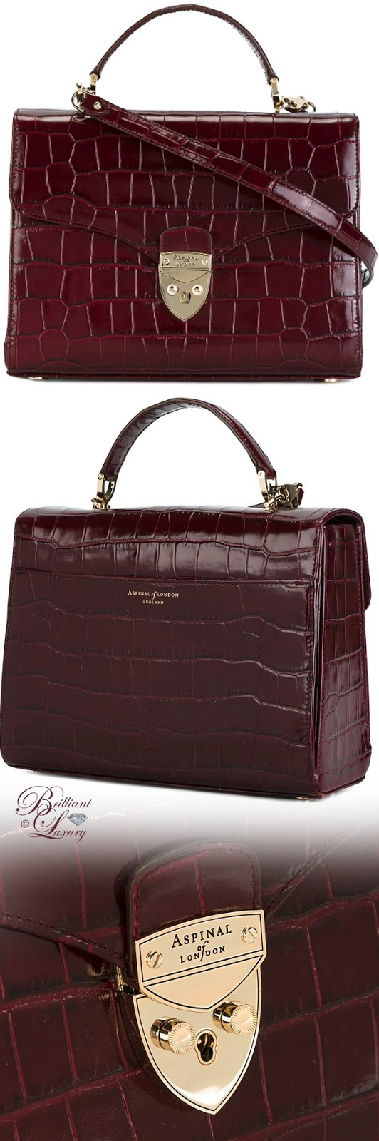 Brilliant Luxury ♦ Aspinal of London Top Handle Crossbody Bag