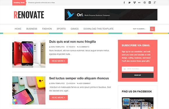 renovate-blogger-teması