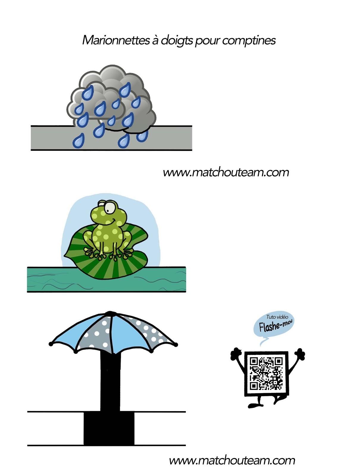 ma tchou team marionnettes doigts il pleut il mouille. Black Bedroom Furniture Sets. Home Design Ideas