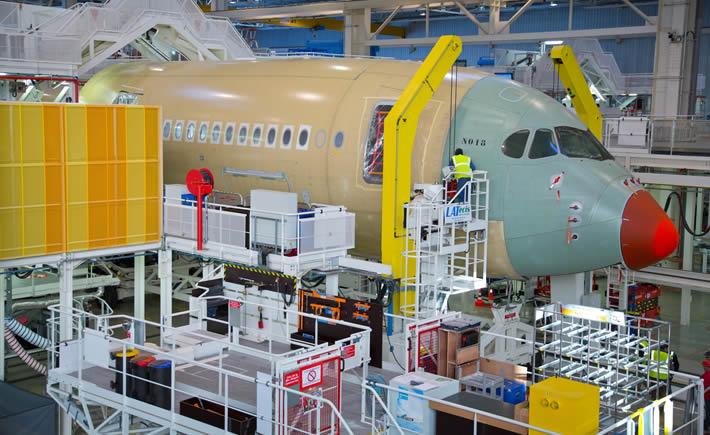 La actividad de innovación y tecnología del sector aeroespacial en México se encuentra altamente concentrada en las regiones de Ciudad de México, Guadalajara, Monterrey, Querétaro y Baja California, según un documento de ProMéxico. (Foto: Airbus)