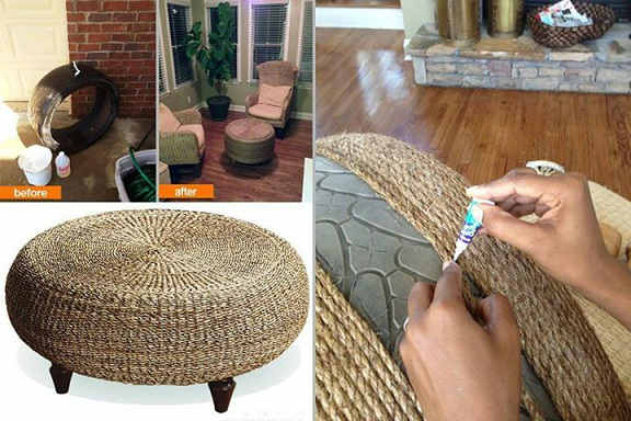 Waste tyre creativity, creative ideas from waste material