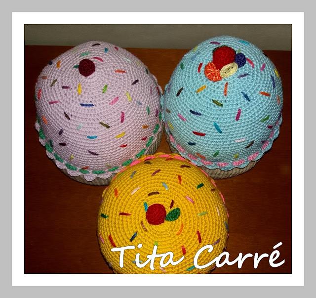 As almofadas Cupcakes da Tita Carré