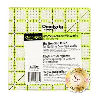 "OmniGrip 6 1/2"" Square Ruler Shabby Fabrics"