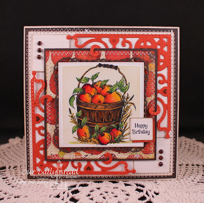 Our Daily Bread Designs, Apples, Peaches, Decorative Corner Dies, Cathy McCauley