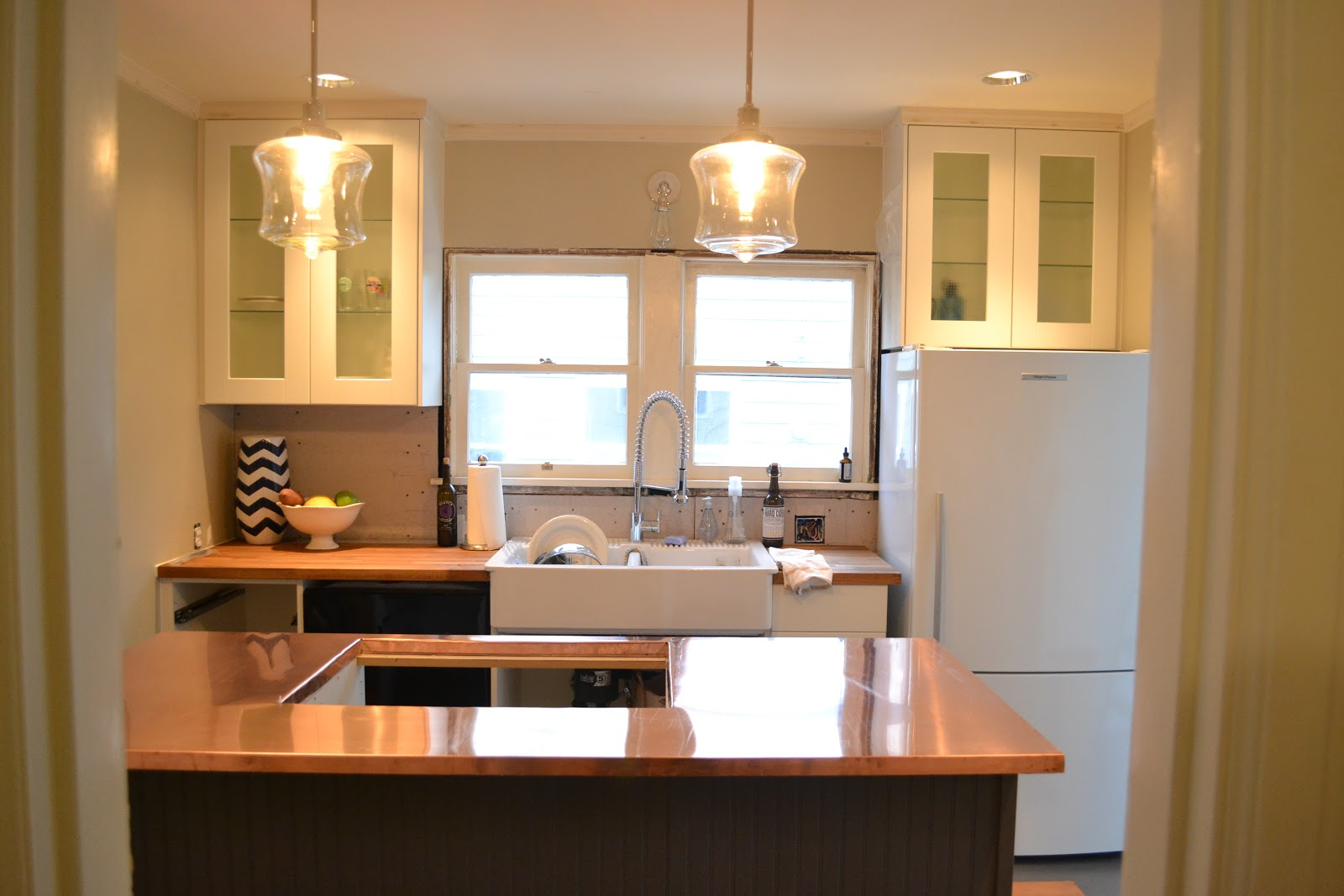 a home in the making: {renovate} copper counters, kitchen