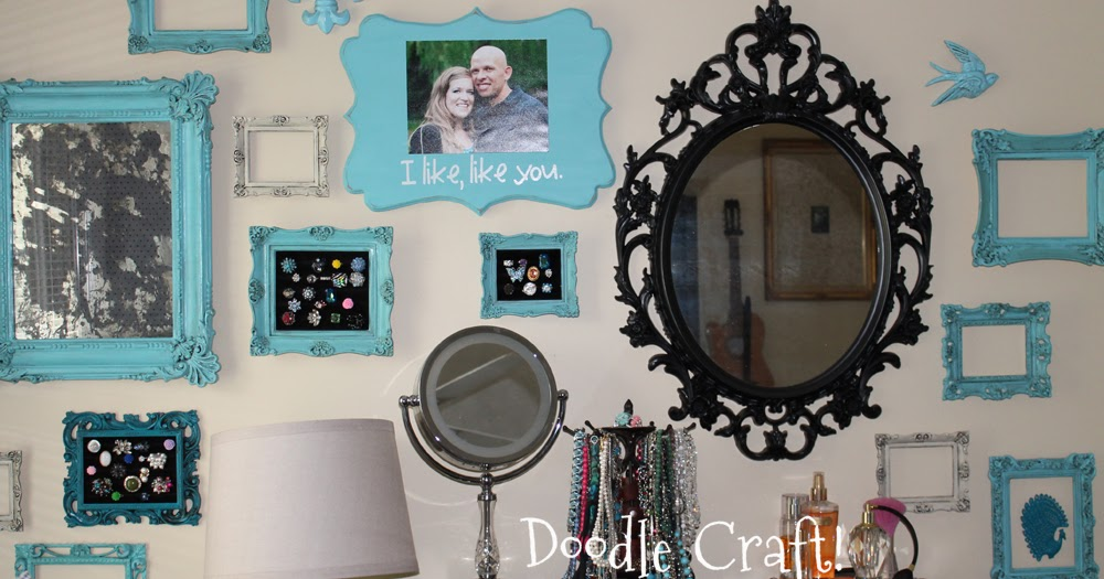 Doodlecraft Bedroom Gallery Wall