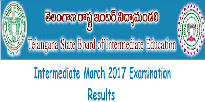 Telangana Inter 1st & 2nd year results 2017