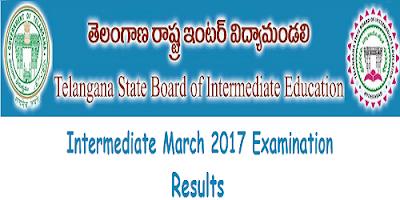 Telangana Inter 1st & 2nd year results 2017