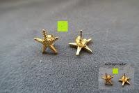 Vergleich: UM Schmuck Charm Damen Titanium Edelstahl Seestern Ohrstecker Gold-Ton