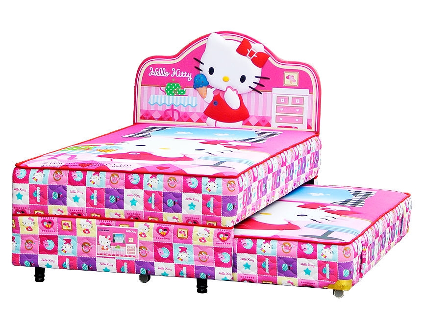 Harga Bigland Hello Kitty Twin Bed 2in1 Classic Twin Bed