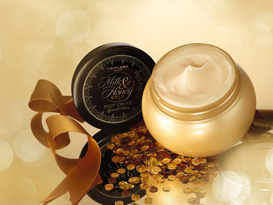 Creme Corpo Milk & Honey Gold Edição Especial da Oriflame