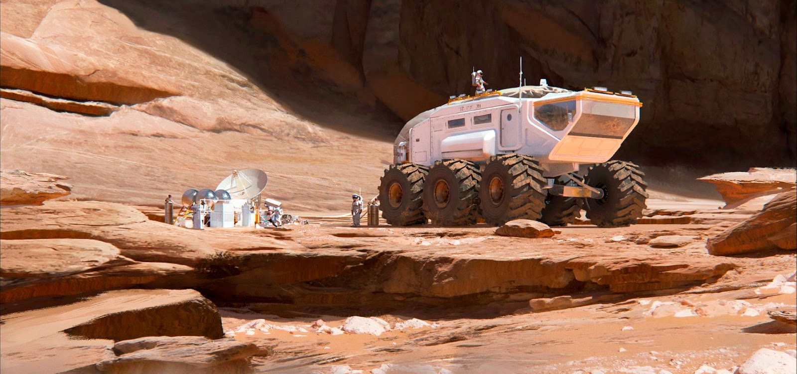 Mars rover by Florent Lebrun