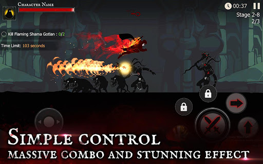 pada kesempatan kali ini admin akan membagikan sebuah  Shadow of Death: Dark Knight - Stickman Fighting v1.25.0.6 Mod Apk