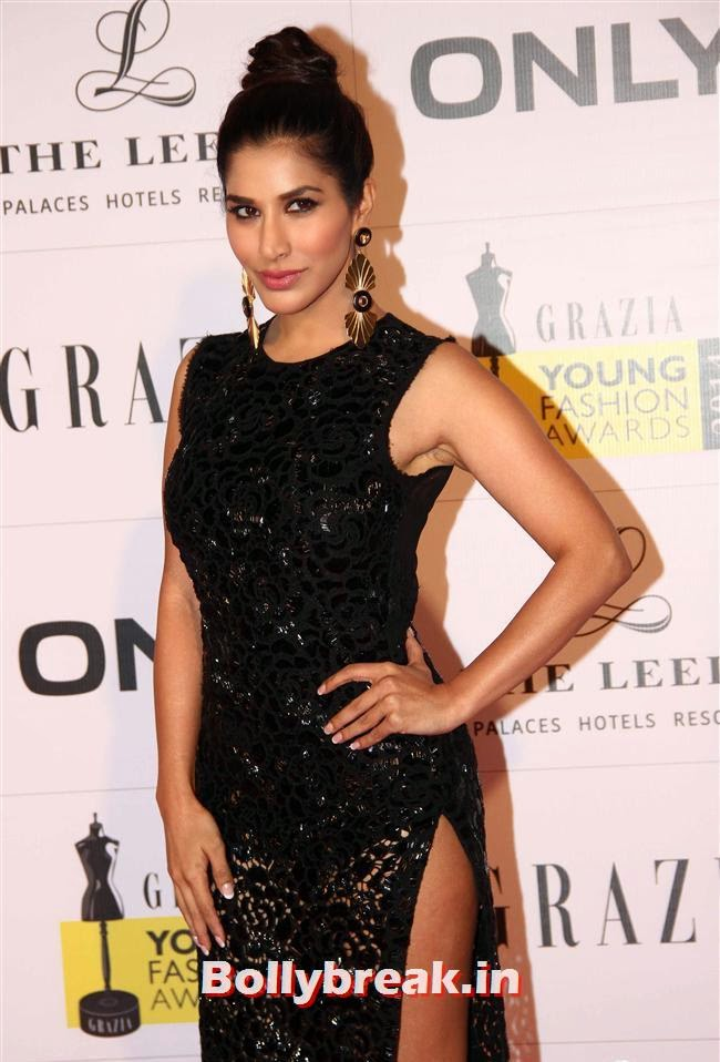 Sophie Choudhary, Hottest Celebs of Bollywood at Grazia Young Fashion Awards 2014