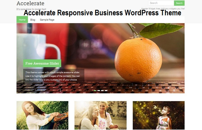 Accelerate Responsive Business WordPress Theme