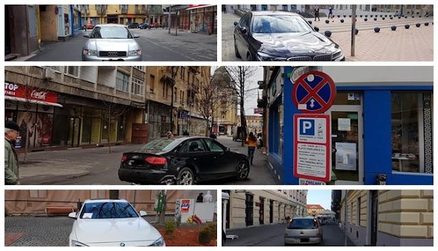 Peste 500 de conducători auto sancționati în ultima lună pentru oprirea în zone cu accesul interzis, în zona centrală a orasului