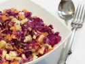 Red Cabbage Slaw with Yogurt Poppy Seed Dressing