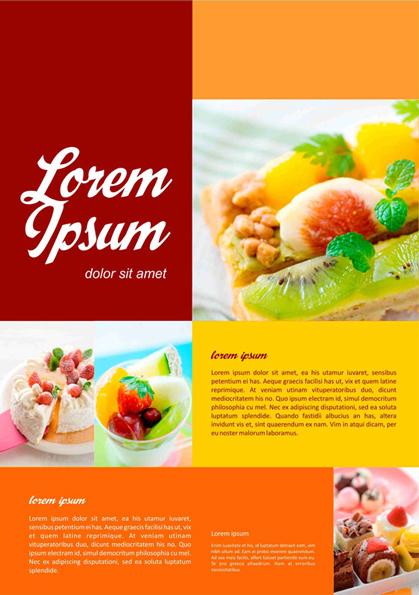 Desain Minimalis Flyer Makanan CDR File | Design Corel