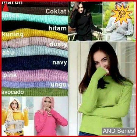 AND011 Baju Atasan Wanita Rajut Roundhand Secker BMGShop