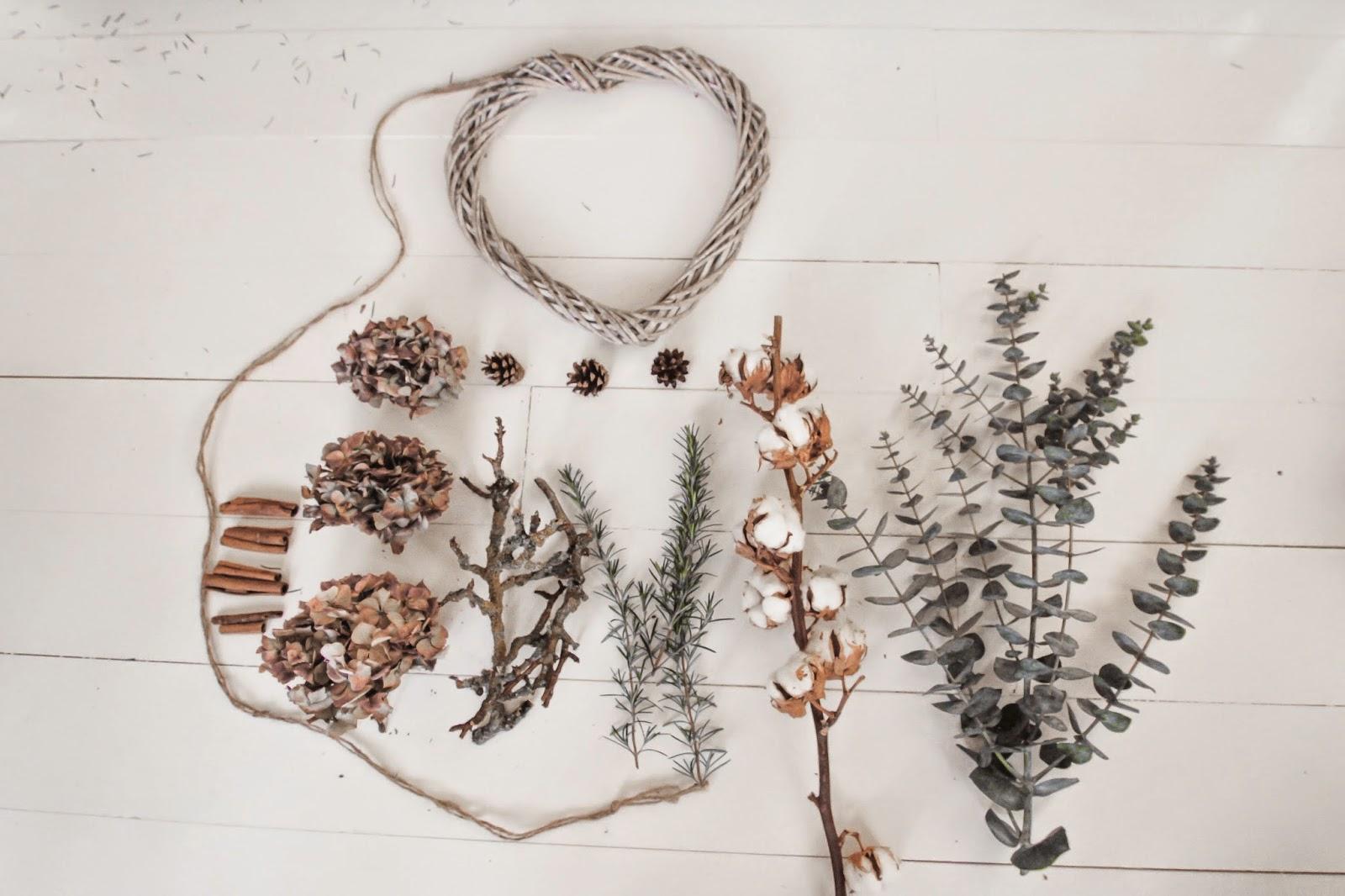 A Handmade Cottage Wreath Making With Buddies A Dried Hydrangea