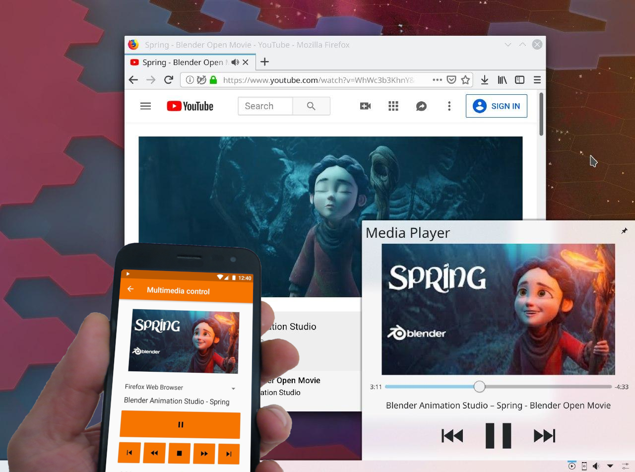 KDE Plasma: Control Audio/Video Playing In The Browser Using