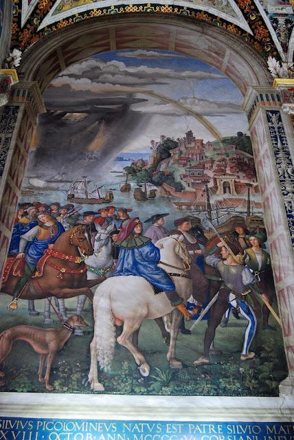 départ de Piccolomini pour le concile de Bâle…