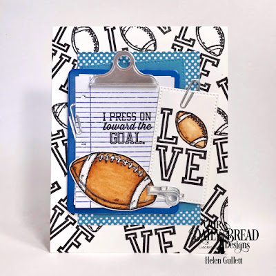 Our Daily Bread Designs Stamp/Die Duos: Notebook Paper, Football, Our Daily Bread Designs Custom Dies: Clipboard Set, Rectangles, Pierced Rectangles, Paper Collection: Old Glory