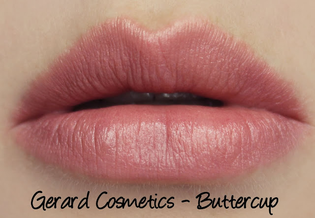 Gerard Cosmetics Lipsticks - Buttercup Swatches & Review