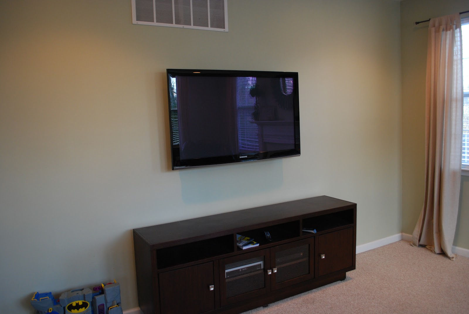 How To Put A Tv On A Wall Tulip And Turnip Design Dilemma Tv Wall