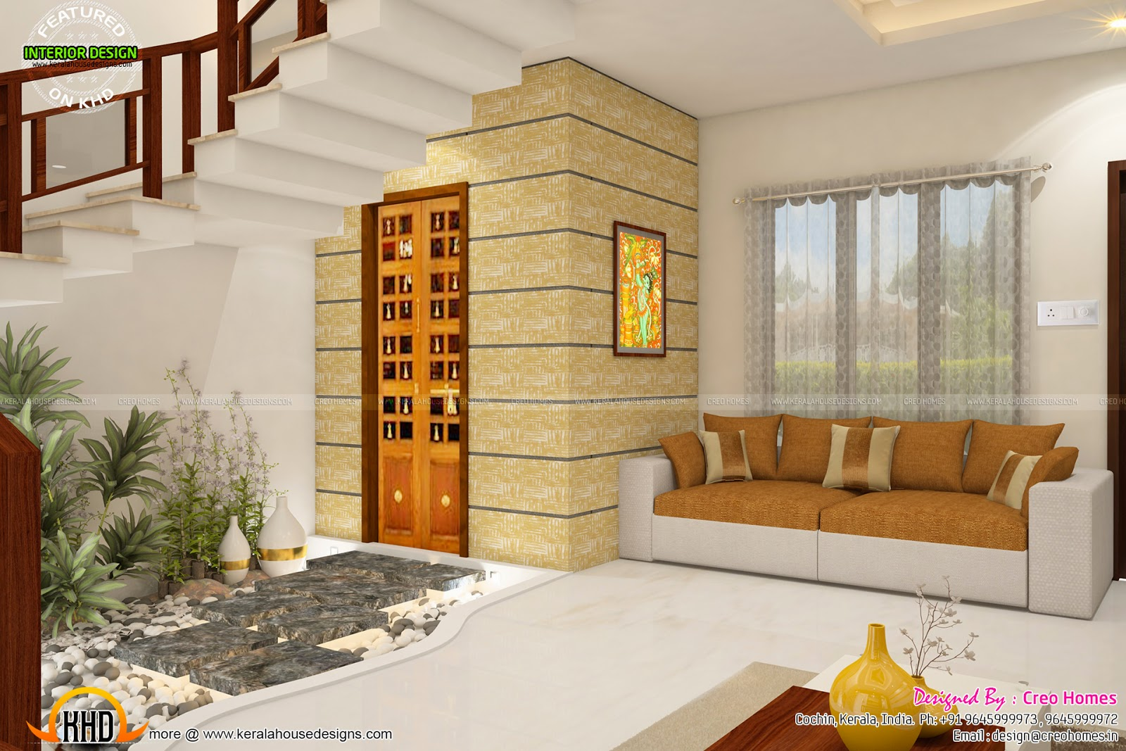 Total home interior solutions by creo homes kerala home for Home plans with interior photos